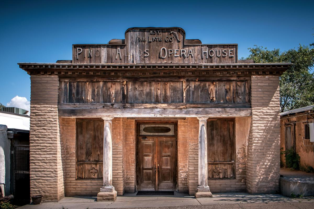 The historic Buckhorn Saloon and Opera House in Pinos Altos.
