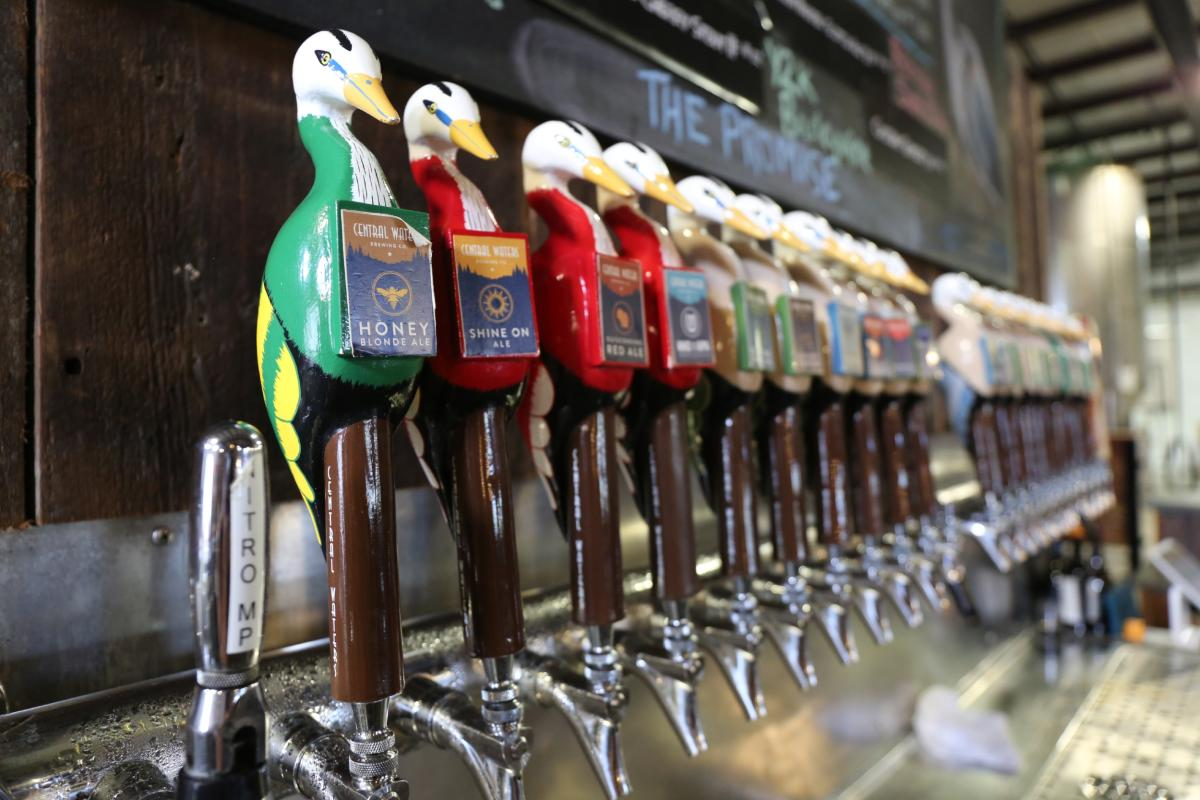 Central Waters Brewing Company Tap Room in Amherst, Wisconsin.