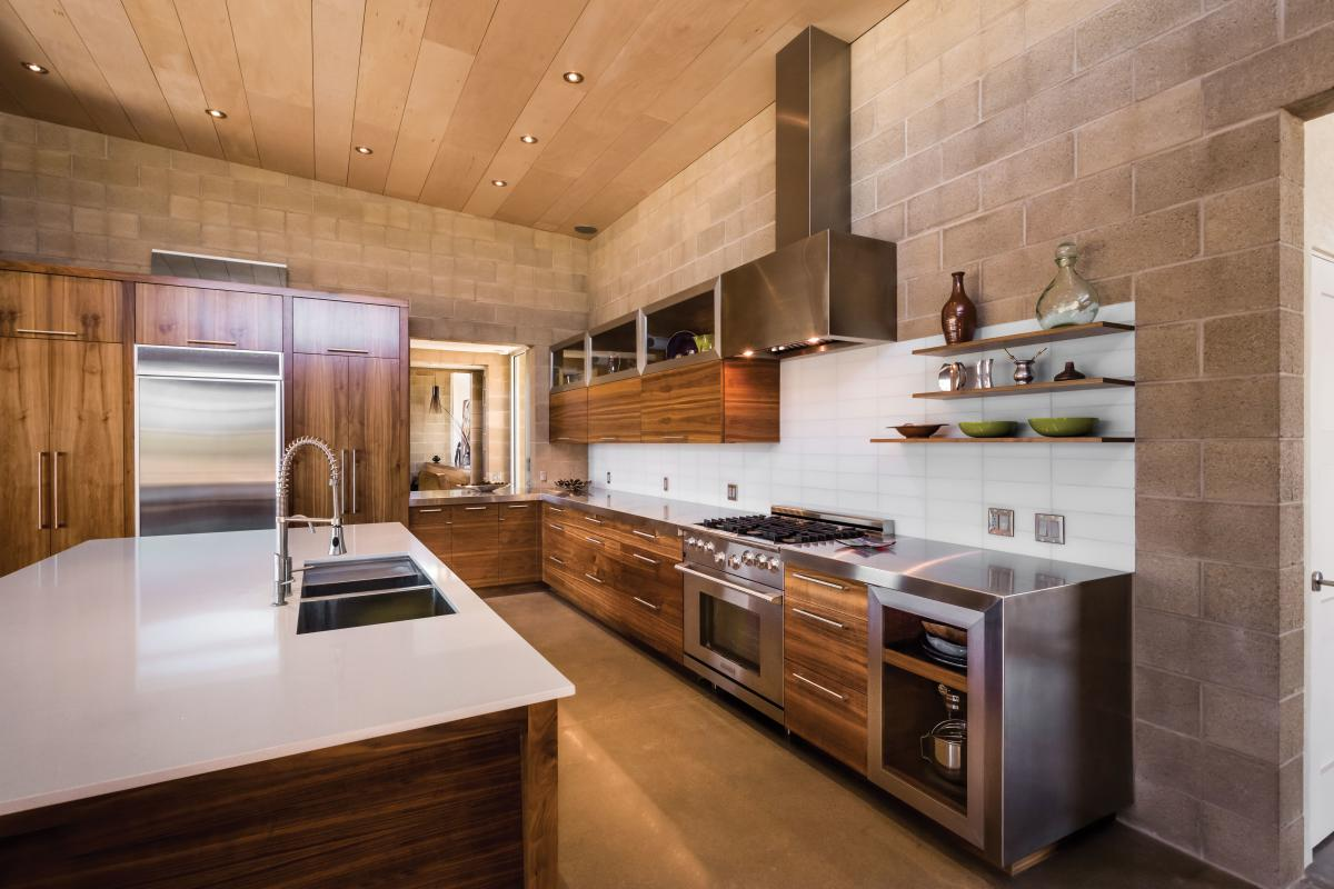 The kitchen of Brian and Carrie Freeman's Corrales home