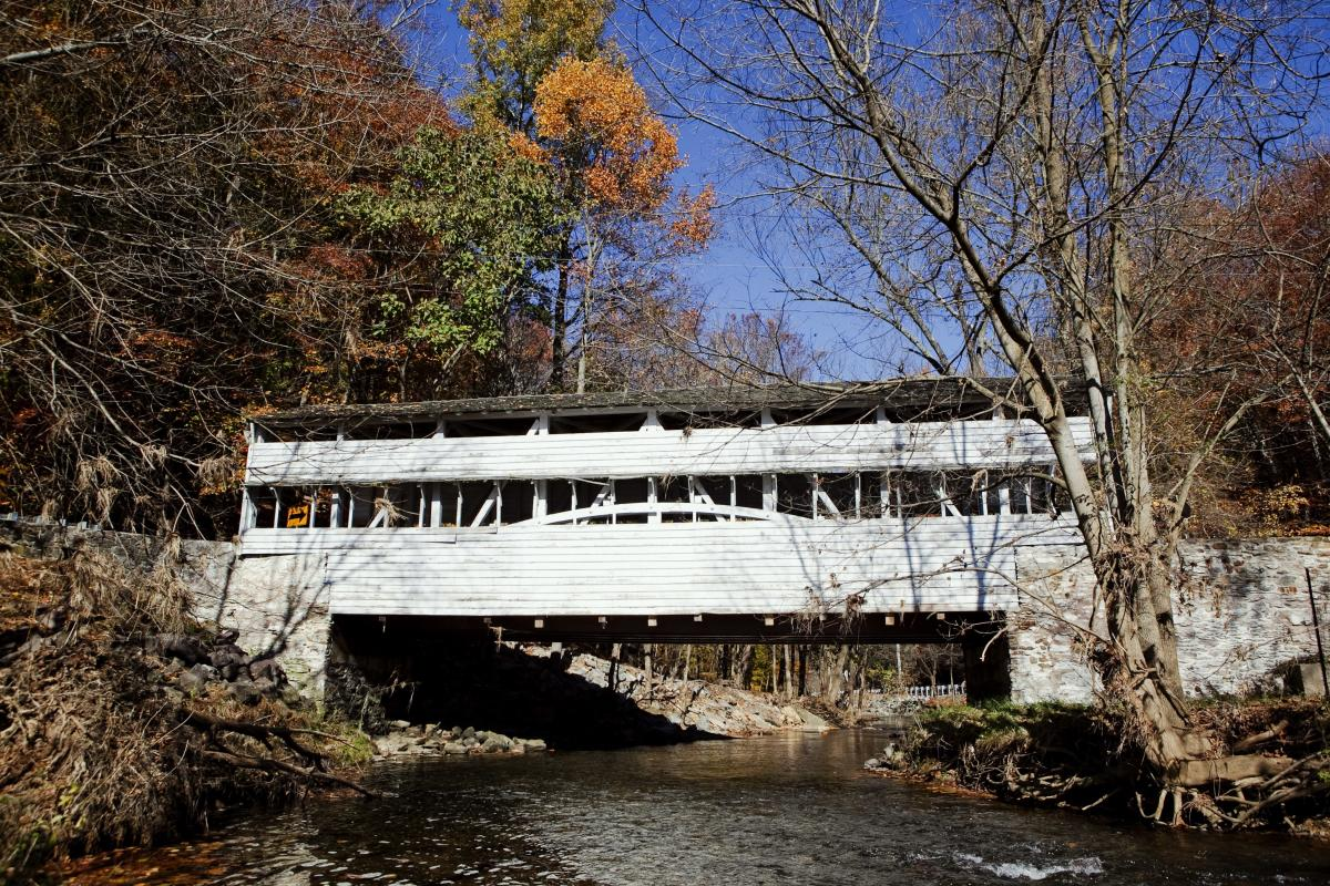 Knox Covered Bridge in Fall