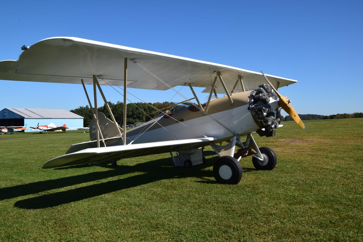 Biplane at Van Sant Airfield