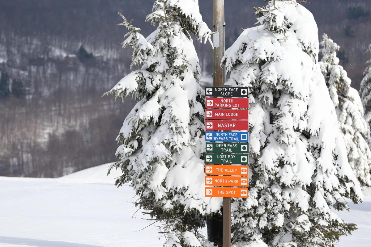 Seven Springs trail signs