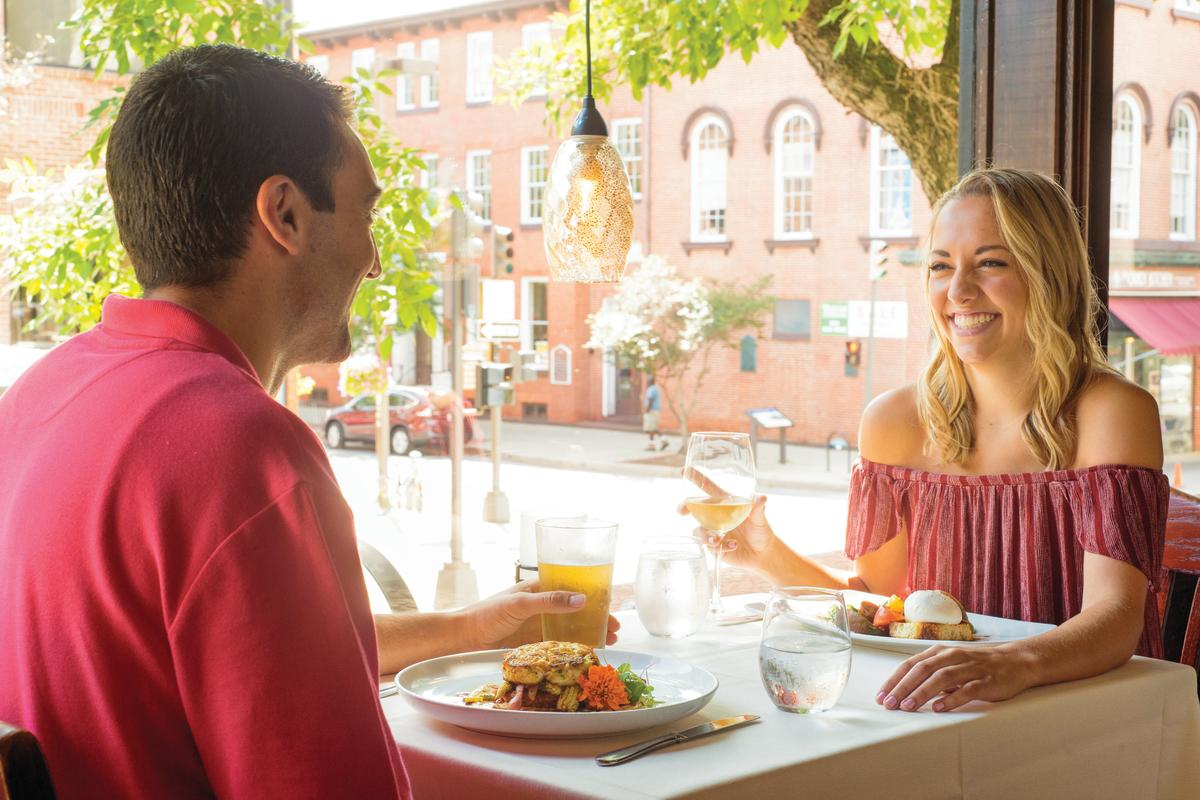 Couple Dining at Firestones