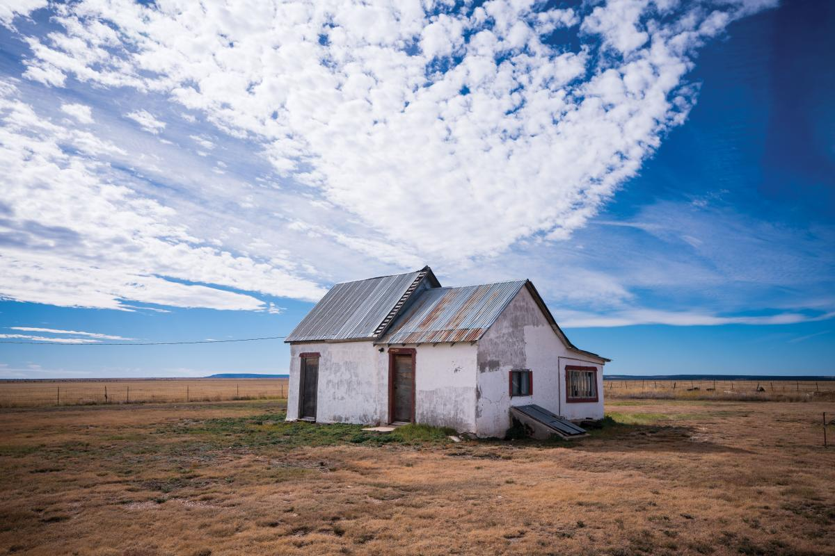 An abandoned homestead between Roy and Mosquero