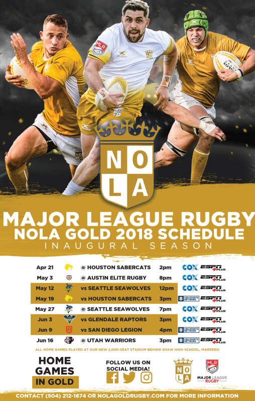 Nola Gold Rugby Schedule