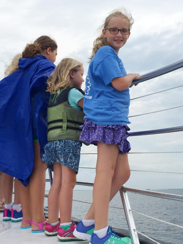 Kids on Chasing Find Dolphin Tour