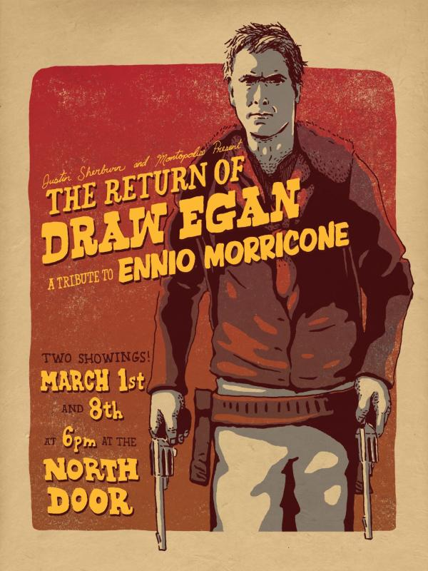 Ennio Morricone Tribute Poster at the North Door