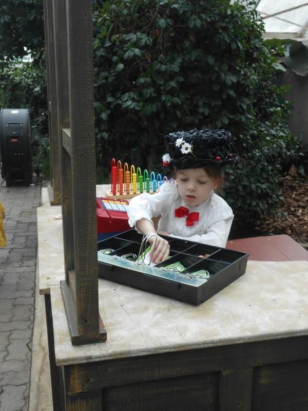 Child enjoying the Mary Poppins Garden