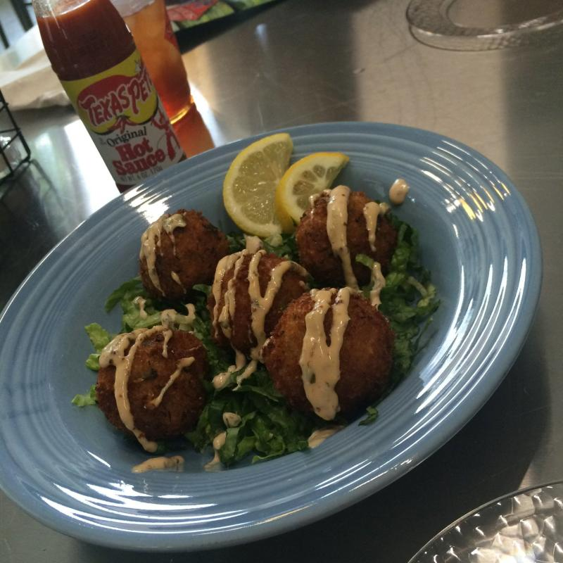 Jabalaya Hushpuppies from Kudzu Seafood