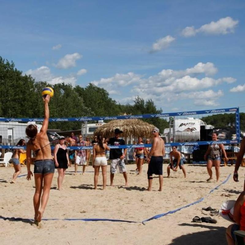 Beach volleyball in the campground at Dauphin's Countryfest