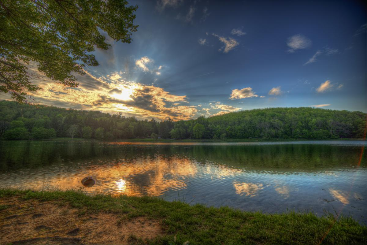 Twin Lakes park in the Laurel Highlands