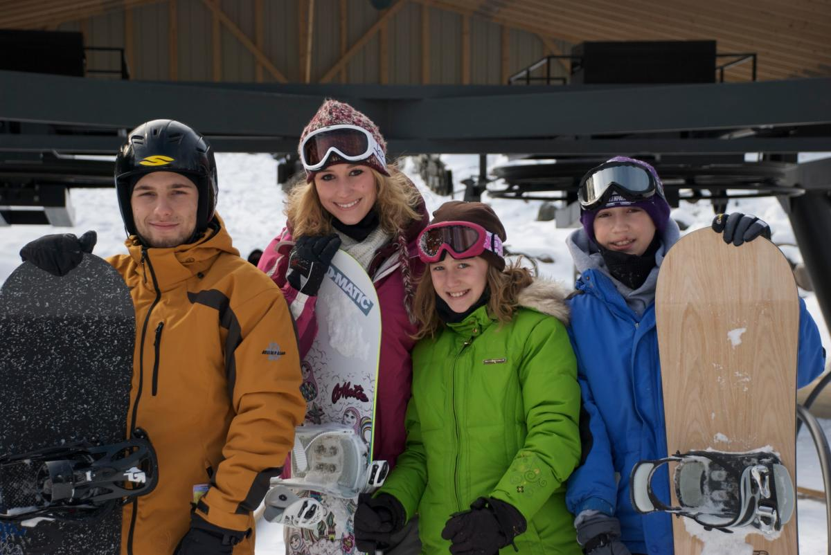 Snowboarding Fun in the Northern Pocono Mountains