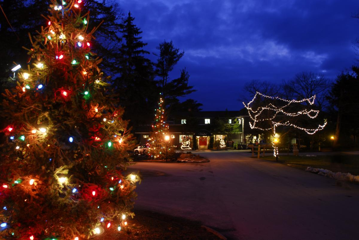 Holiday Lights at Woodloch Resort in the Pocono Mountains