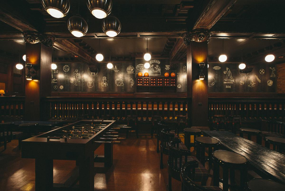 Game Room at Chicago Athletic Association