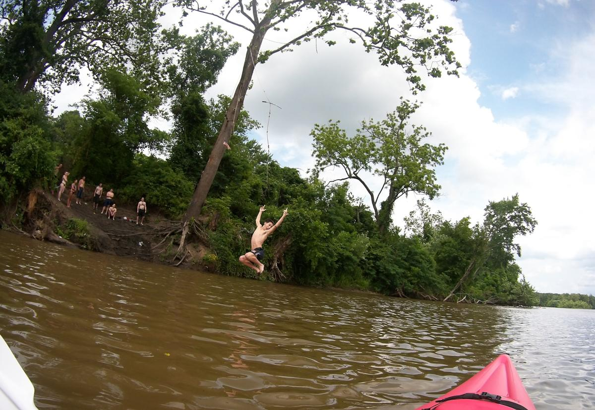Jumping in the Delaware River