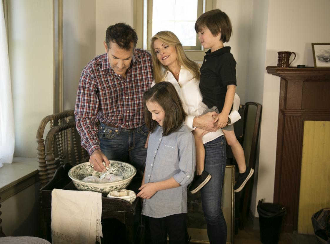 A family at Ben Lomond