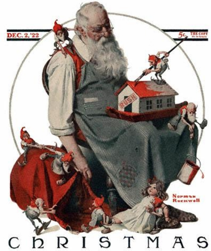 Norman Rockwell's Home for the Holidays exhibit at the Guntersville Museum of Art