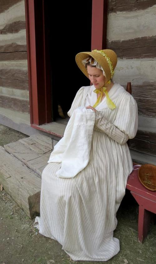 Woman in 1812-era costume
