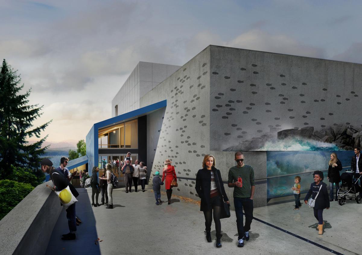 Pacific Seas Aquarium rendering