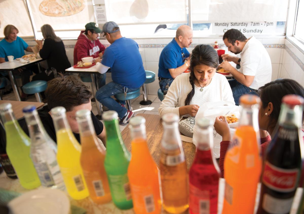 Mexican sodas complement the cuisine at Taqueria Mexico in Albuquerque