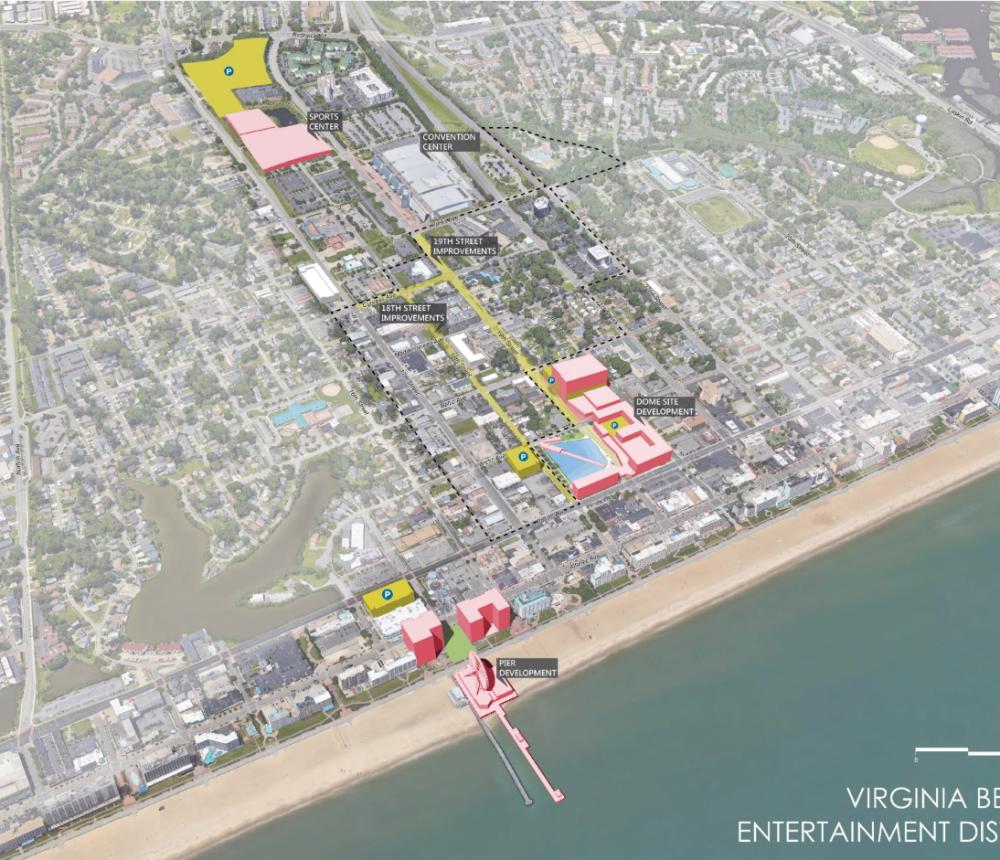 Virginia Beach Sports Center Location in Entertainment District