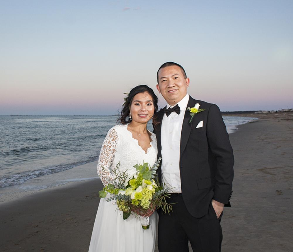 A Romantic Sunset Wedding for Two