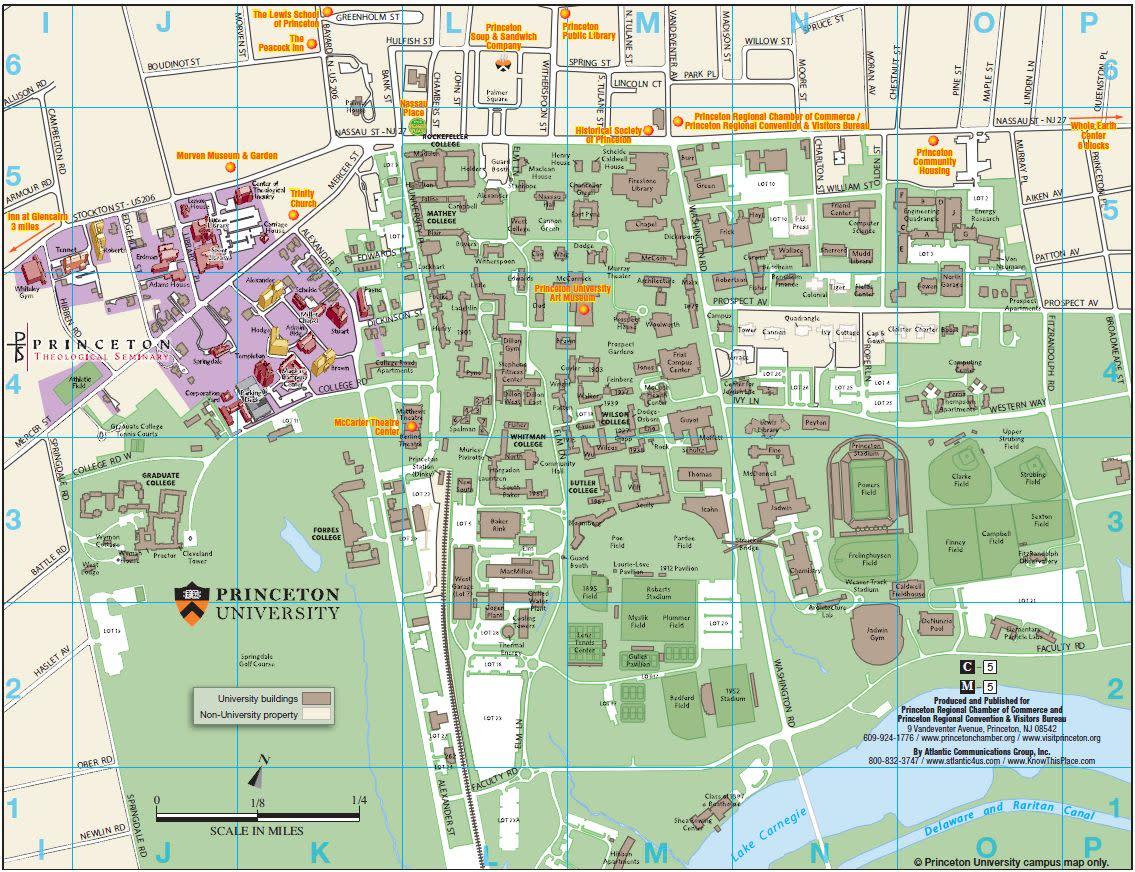 Princeton University Area Map