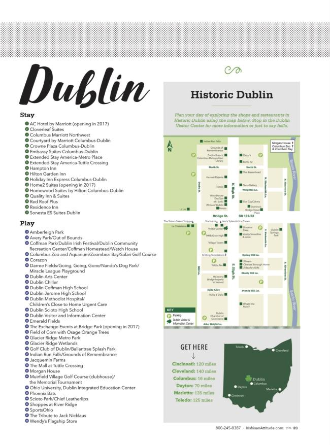 Historic Dublin, Ohio Area Map