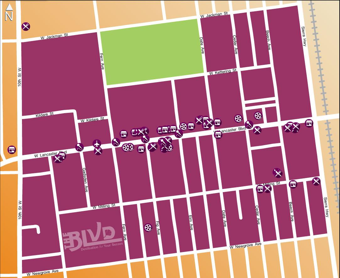 The BLVD - Map
