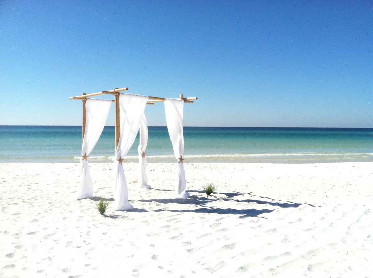 Beach wedding location Panama City Beach Florida