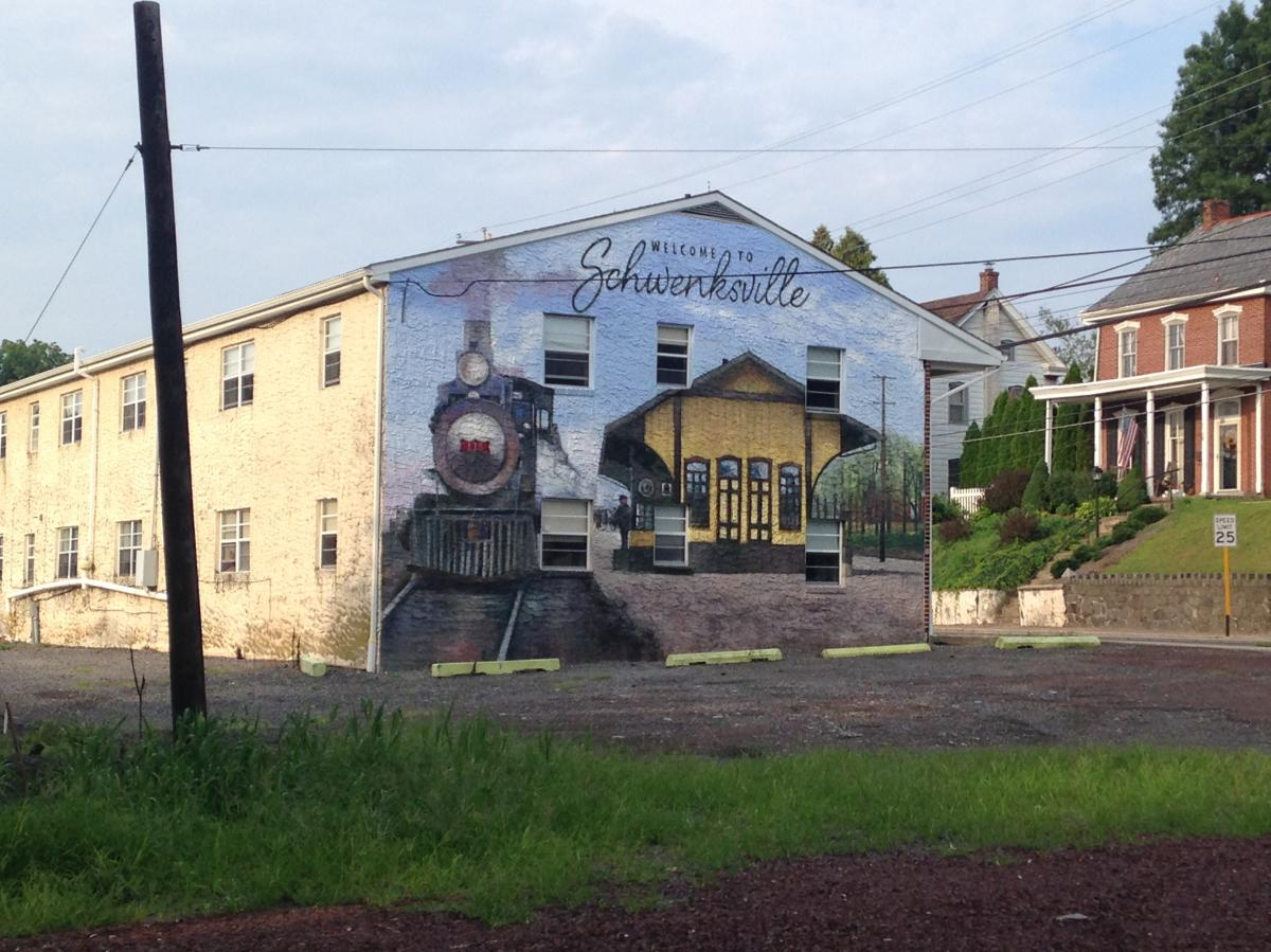 Welcome to Schwenksville, one of many trailside towns along the Perkiomen.