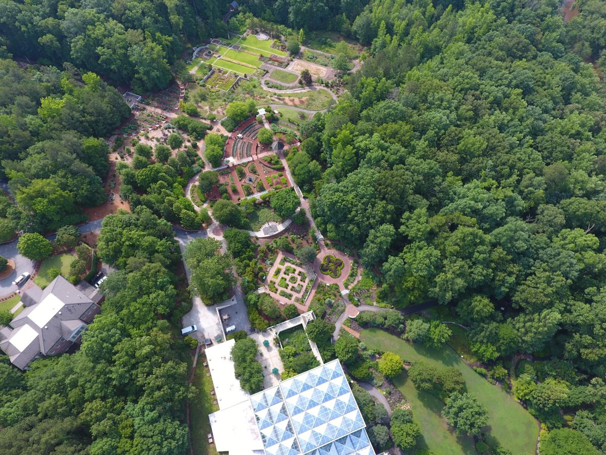 State Botanical Garden Aerial View