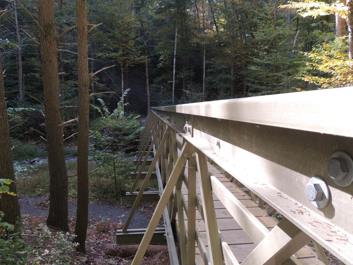 Hornsbeck Hiking Trail in the Pocono Mountains