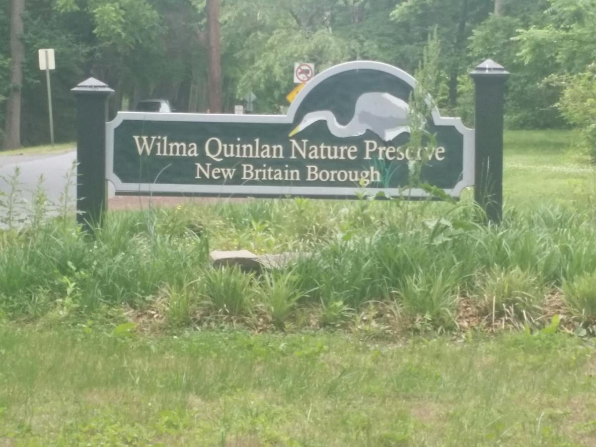Wilma Quinlan Nature Preserve sign