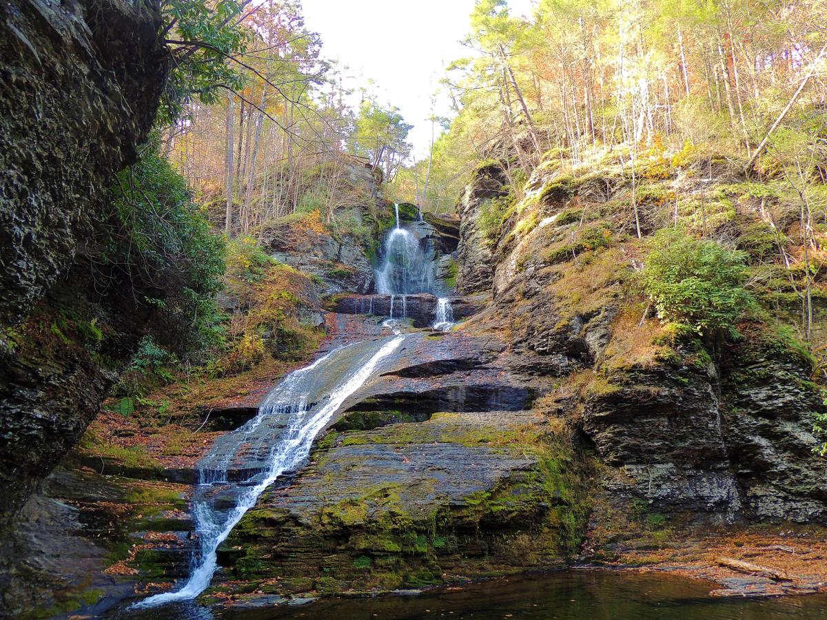 Dingmans Falls in the Pocono Mountains