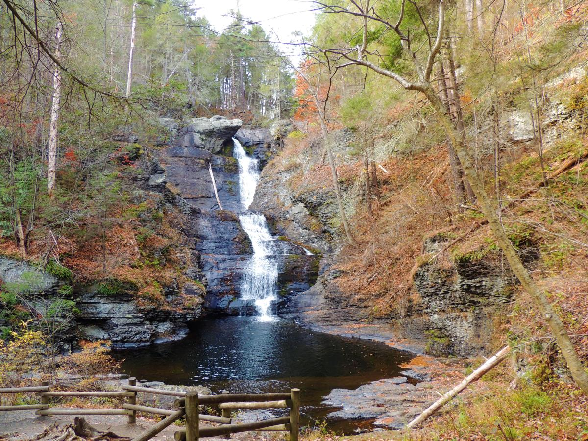Raymondskill Falls in the Pocono Mountains