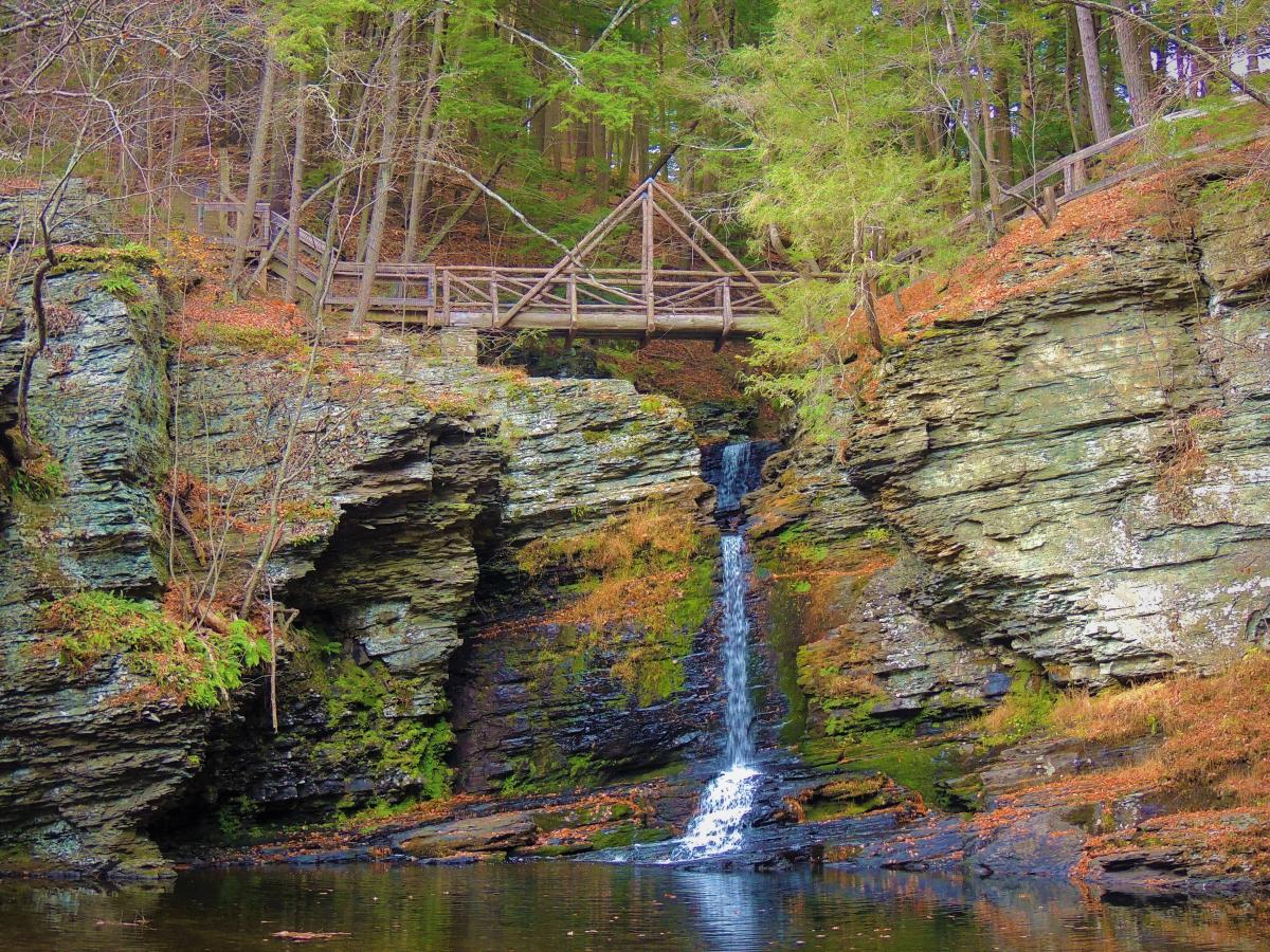 Fulmer Falls at George W. Child's Park in the Pocono Mountains