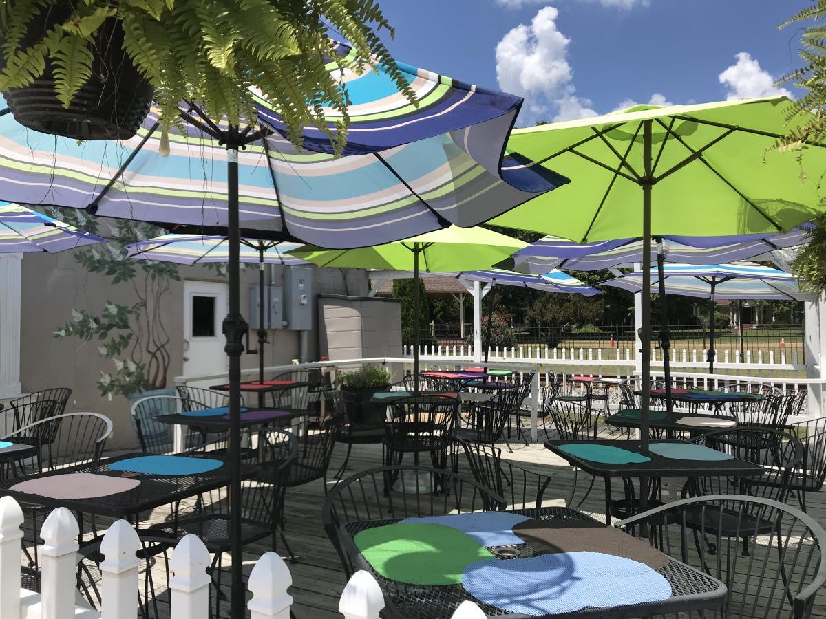 main street cafe umbrellas