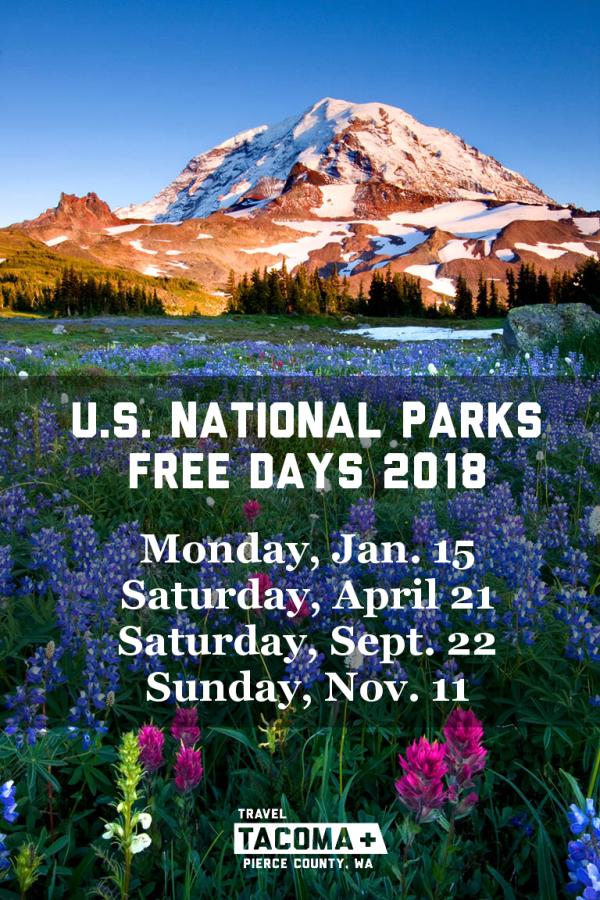 Mount Rainier Free Days 2018
