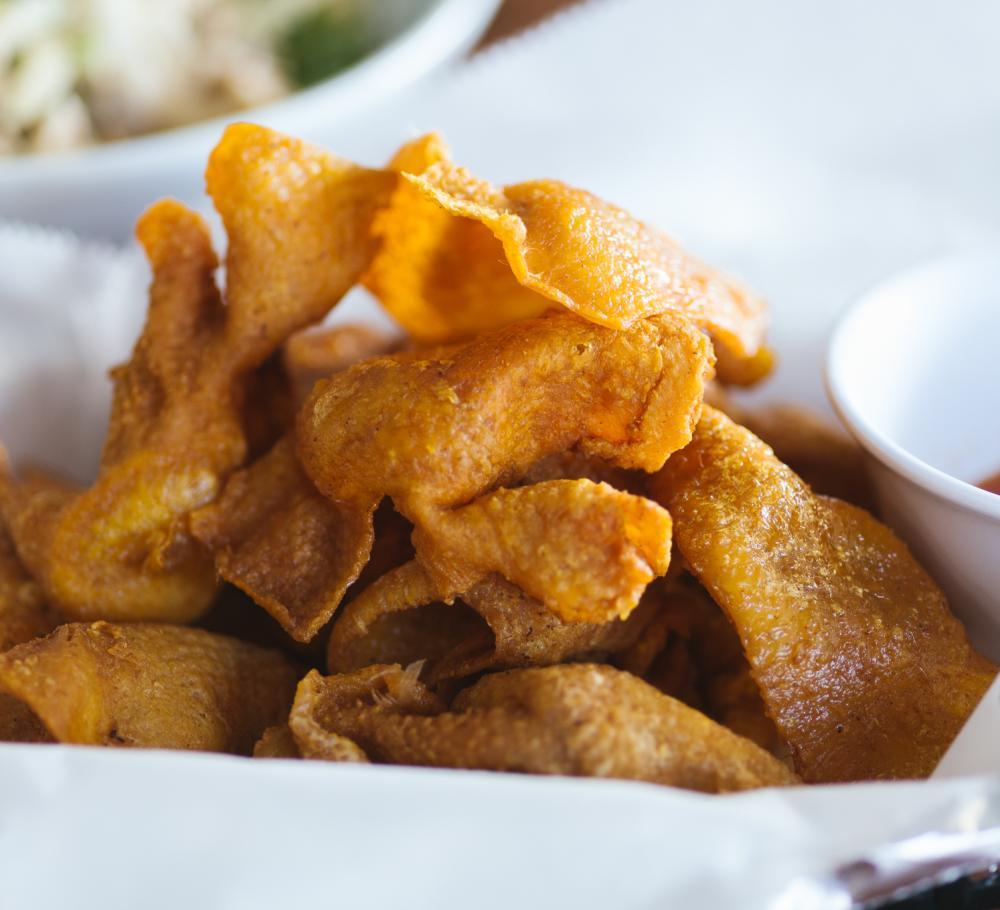 fried chicken skins