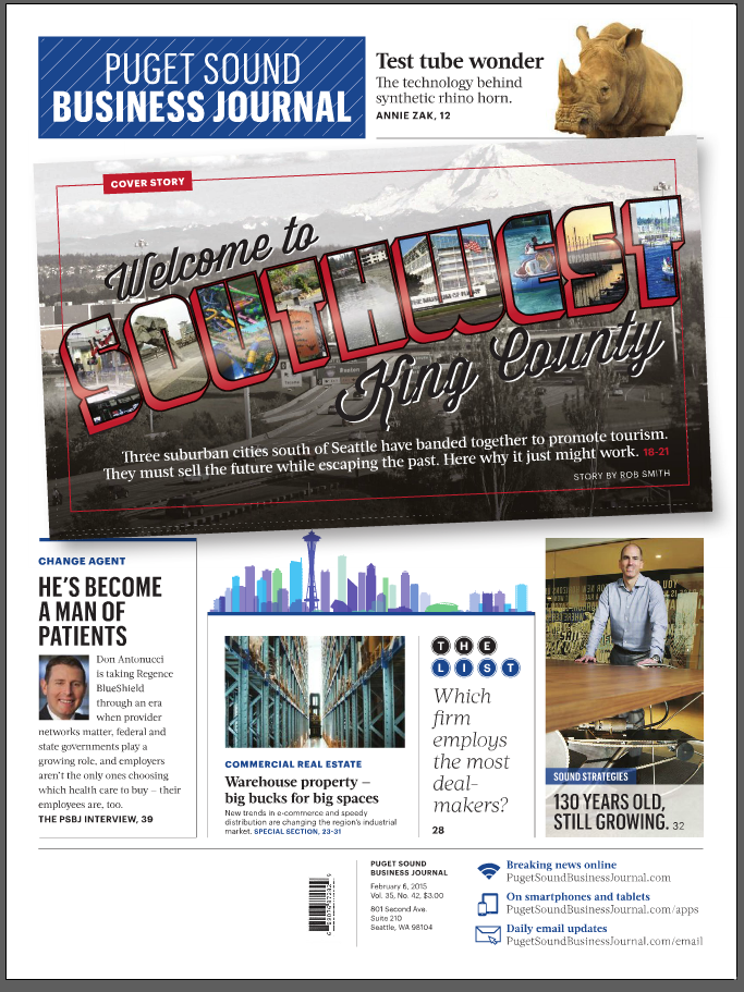 Puget Sound Business Journal Cover Story Featuring Seattle Southside