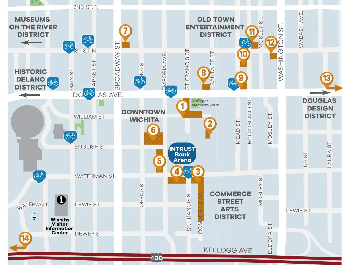 NCAA map with bike share