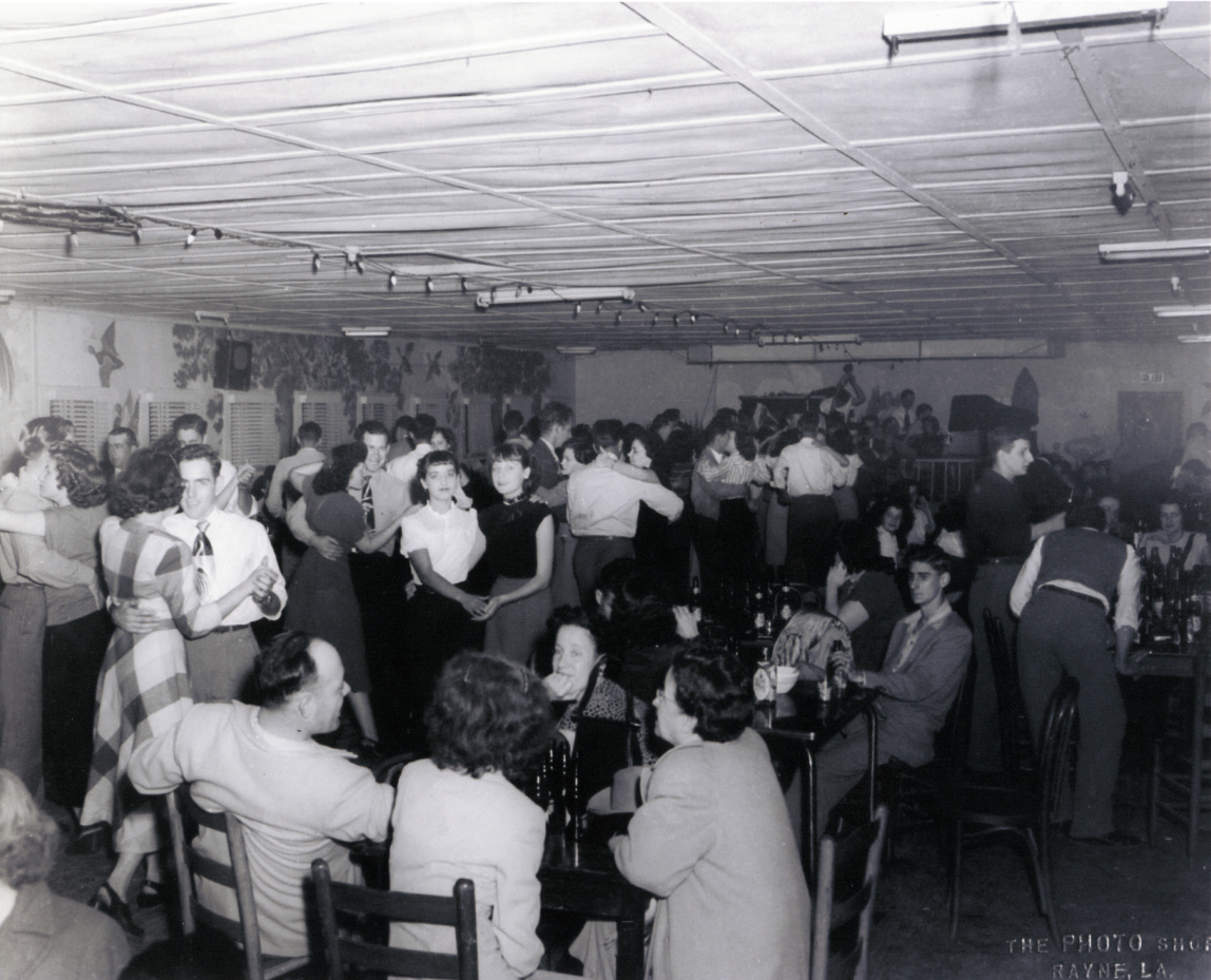 Hollywood Club, Rayne, LA 1949, courtesy of Johnnie Allan and the Center for Louisiana Studies