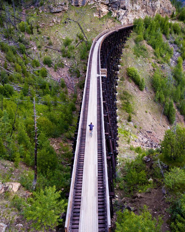 Myra Canyon Trestles | Drone View