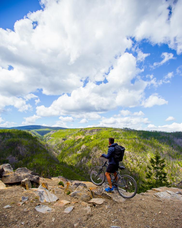 Bike Riding the Trestles at Myra Canyon