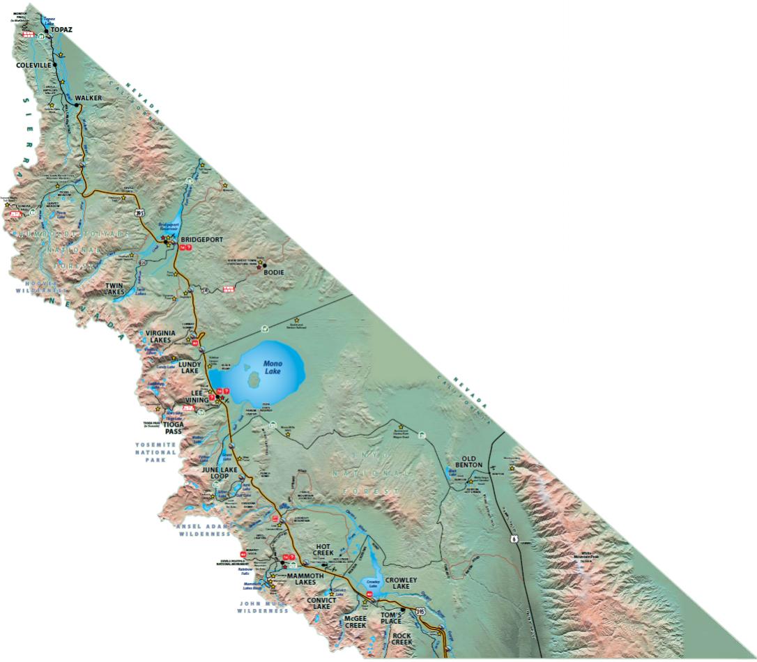 Map of Mono County