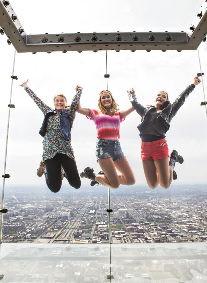 Skydeck Teen Girls Jumping