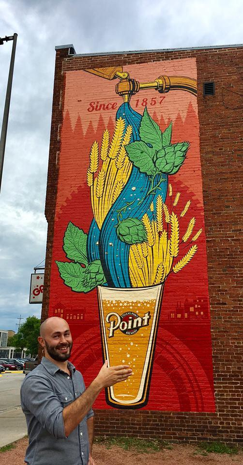 #grabtheglass Stevens Point Brewery mural