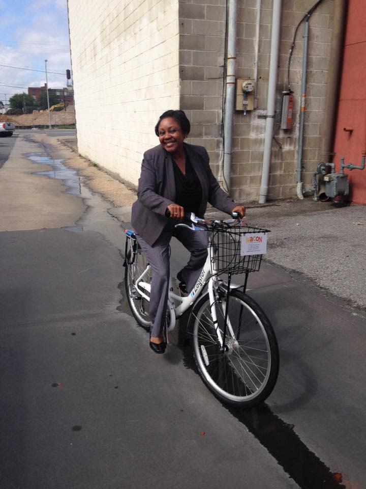 Kimberly Ward on Bike