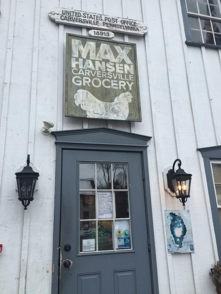 Sign at Max Hensen Carversville Grocery